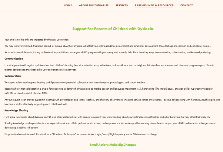 Dyslexia support for parents Singapore