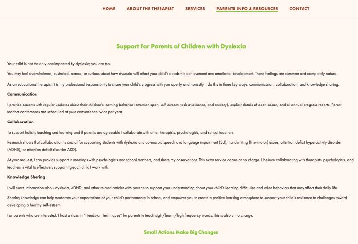 Dyslexia support for parents Singapore
