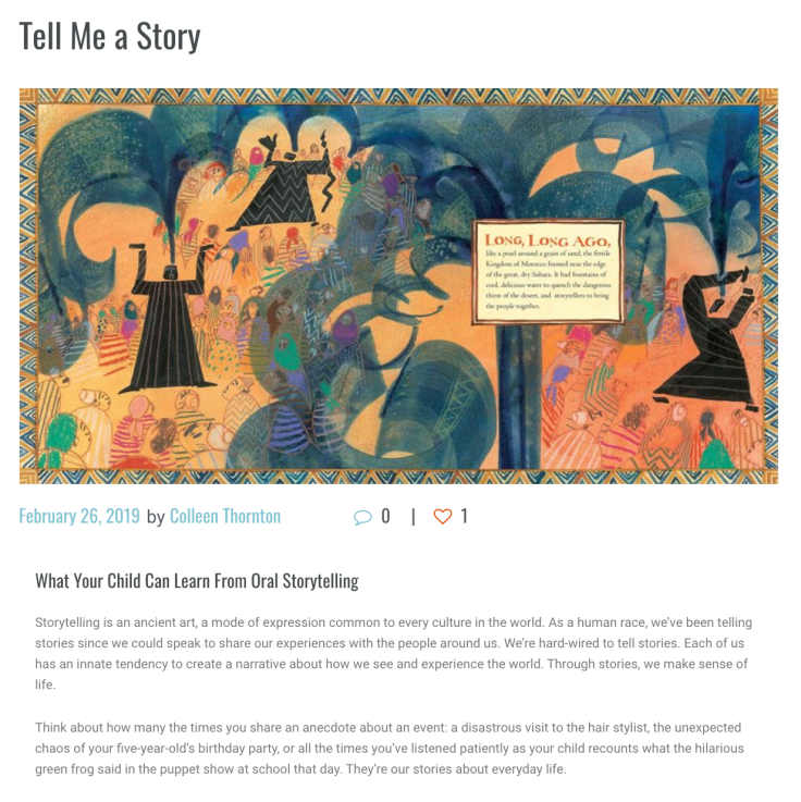 Tell me a story blog